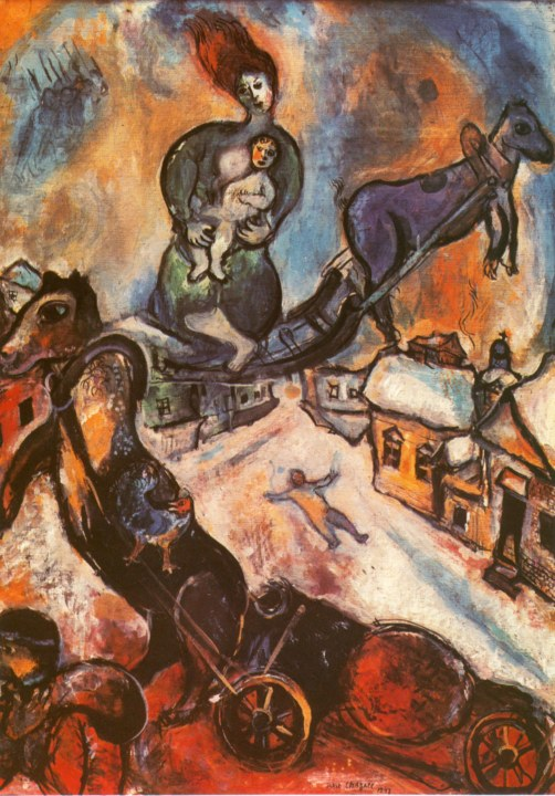 Marc Chagall, Krieg, 1941. Paris, Musée national d´art moderne.
