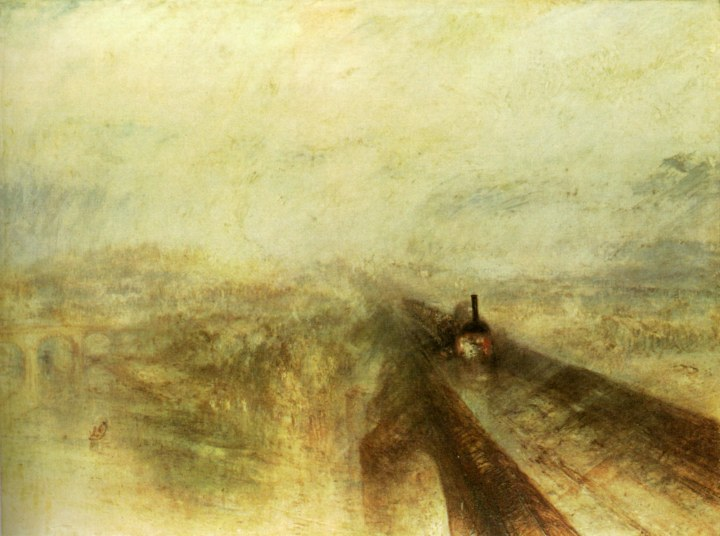W. Turner: Regen, Dampf, Schnelligkeit. London National Gallery.